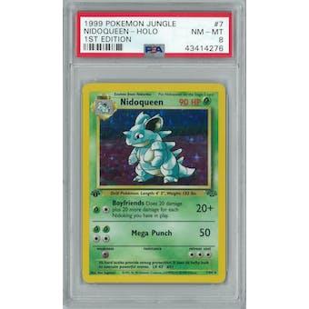 Pokemon Jungle 1st Edition Nidoqueen 7/64 PSA 8