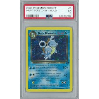 Pokemon Team Rocket Dark Blastoise 3/82 PSA 5
