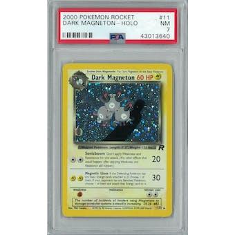 Pokemon Team Rocket Dark Magneton 11/82 PSA 7