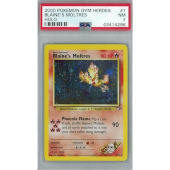 Pokemon Gym Heroes Blaine's Moltres 1/132 PSA 7