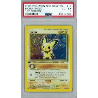 Pokemon Neo Genesis 1st Edition Pichu 12/111 PSA 4
