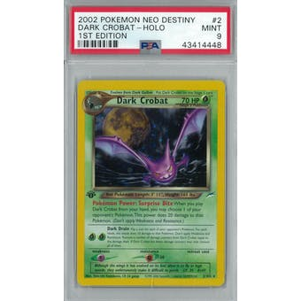 Pokemon Neo Destiny 1st Edition Dark Crobat 2/105 PSA 9