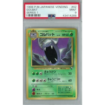 Pokemon Japanese Vending Series 1 Golbat  PSA 9