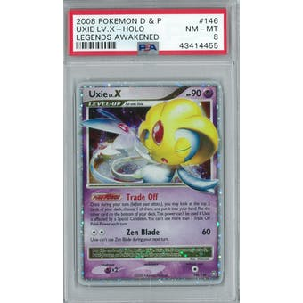 Pokemon Legends Awakened Uxie Lv X 146/146 PSA 8