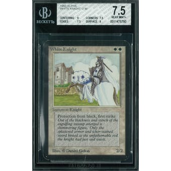 Magic the Gathering Alpha White Knight BGS 7.5 (9, 7.5, 7.5, 8)