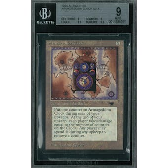 Magic the Gathering Antiquities Armageddon Clock BGS 9 (9, 9, 9.5, 9.5)
