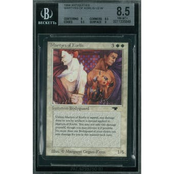 Magic the Gathering Antiquities Martyrs of Korlis BGS 8.5 (9, 8.5, 8.5, 9)