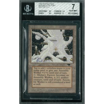 Magic the Gathering Antiquities Mishra's Factory (Winter) BGS 7 (8.5, 6.5, 8.5, 8)
