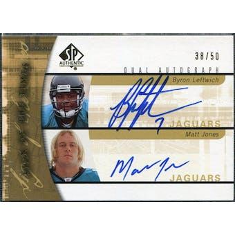 2005 Upper Deck SP Authentic Sign of the Times Dual #LJ Byron Leftwich Matt Jones Autograph /50