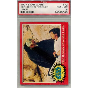 1977 Topps Star Wars #72 Ben Kenobi Rescues Luke PSA 8 (NM-MT) *5349 (Reed Buy)