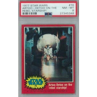 1977 Topps Star Wars #76 R2-D2 on the Rebel Starship PSA 8 (NM-MT) *5348 (Reed Buy)