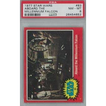 1977 Topps Star Wars #83 Aboard the Millennium Falcon PSA 8 (NM-MT) *4652 (Reed Buy)