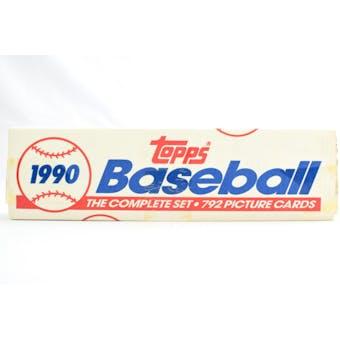 1990 Topps Baseball Factory Set (White Box) (Reed Buy)