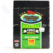 1992 Topps Stadium Club Series 2 Football Hobby Box (Reed Buy)