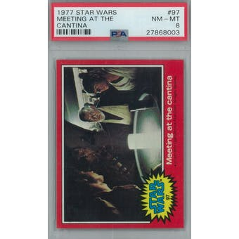 1977 Topps Star Wars #97 Meeting at the Cantina PSA 8 (NM-MT) *8003 (Reed Buy)