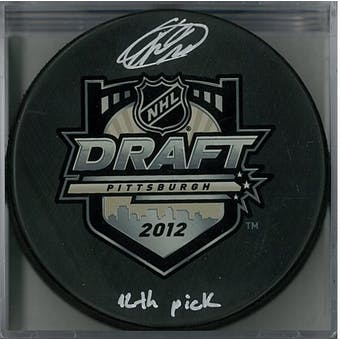 Mikhail Grigorenko Autographed 2012 Draft Hockey Puck (AJSW COA)