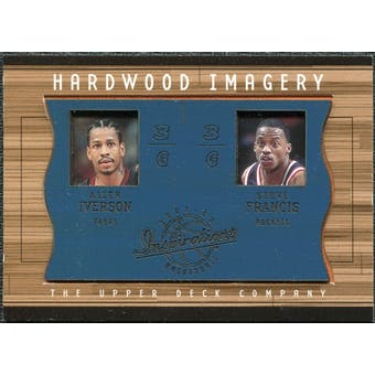 2001/02 Upper Deck Inspirations Hardwood Imagery Combo #AI/SF Steve Francis Allen Iverson