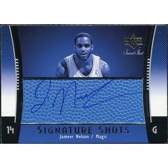 2004/05 Upper Deck Sweet Shot Signature Shots Blue #JN Jameer Nelson Auto