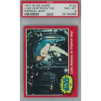 1977 Topps Star Wars #120 Luke Destroys an Imperial Ship PSA 8 (NM-MT) *4288 (Reed Buy)