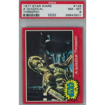 1977 Topps Star Wars #126 Quizzical 3-PO PSA 8 (NM-MT) *3501 (Reed Buy)