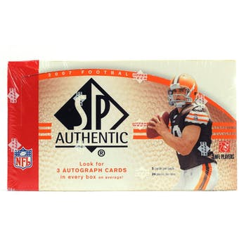 2007 Upper Deck SP Authentic Football Hobby Box