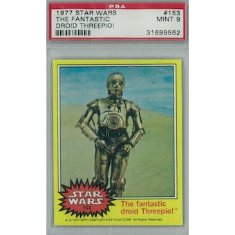 1977 Topps Star Wars #153 The Fantastic Droid Threepio PSA 9 (Mint)* 9562 (Reed Buy)
