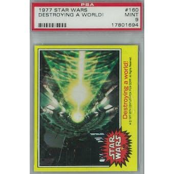 1977 Topps Star Wars #160 Destroying a World PSA 9 (Mint) *1694 (Reed Buy)