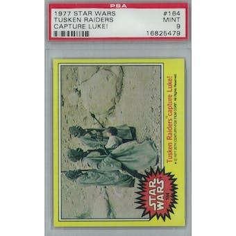 1977 Topps Star Wars #164 Tusken Raiders Capture Luke PSA 9 (Mint) *5479 (Reed Buy)