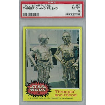 1977 Topps Star Wars #187 3PO and Friend PSA 9 (Mint) *2006 (Reed Buy)