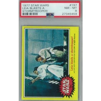 1977 Topps Star Wars #197 Leia/Stormtroopers PSA 8 (NM-MT) *5459 (Reed Buy)