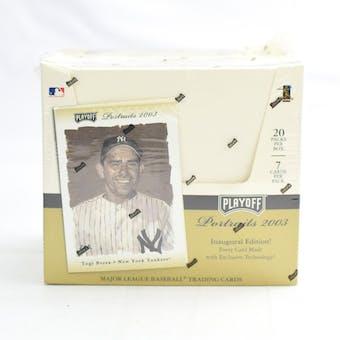 2003 Playoff Portraits Baseball Hobby Box (Reed Buy)
