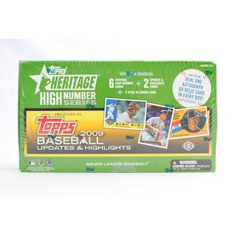 2009 Topps Heritage High Number Baseball Hobby Box (Reed Buy)