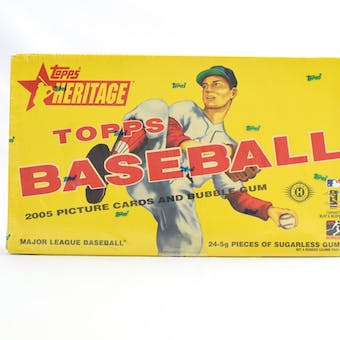2005 Topps Heritage Baseball Hobby Box (Reed Buy)