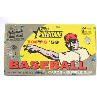 2008 Topps Heritage Baseball Hobby Box (Reed Buy)