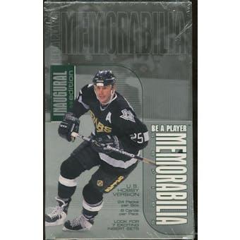 1999/00 Be A Player Memorabilia Hockey U.S. Hobby Box