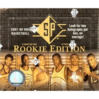2007/08 Upper Deck SP Rookie Edition Basketball Hobby Box