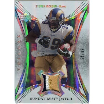 2007 Upper Deck Trilogy Sunday Best Jersey Patch #SJ Steven Jackson /79