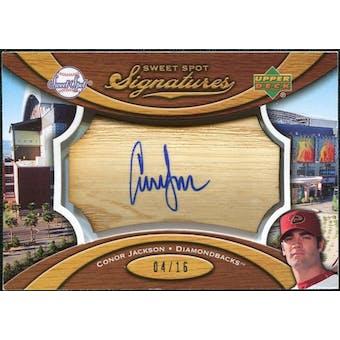 2007 Upper Deck Sweet Spot Signatures Bat Barrel Blue Ink #CJ Conor Jackson 4/16