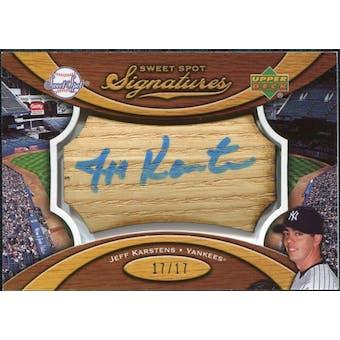 2007 Upper Deck Sweet Spot Signatures Bat Barrel Blue Ink #KA Jeff Karstens /17
