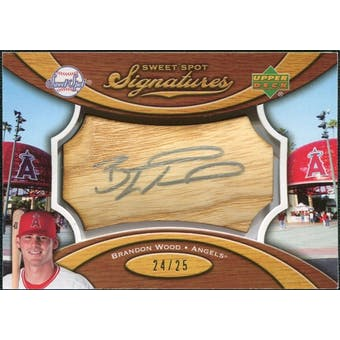 2007 Upper Deck Sweet Spot Signatures Bat Barrel Silver Ink #BW Brandon Wood /25