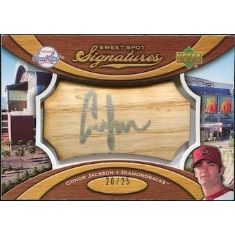 2007 Upper Deck Sweet Spot Signatures Bat Barrel Silver Ink #CJ Conor Jackson /25