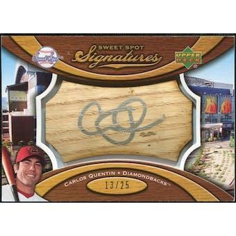 2007 Upper Deck Sweet Spot Signatures Bat Barrel Silver Ink #CQ Carlos Quentin /25