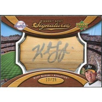 2007 Upper Deck Sweet Spot Signatures Bat Barrel Silver Ink #KS Kurt Suzuki /25