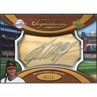 2007 Upper Deck Sweet Spot Signatures Bat Barrel Silver Ink #MM Melvin Mora /15