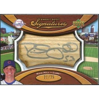2007 Upper Deck Sweet Spot Signatures Bat Barrel Silver Ink #RH Rich Hill /25