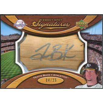 2007 Upper Deck Sweet Spot Signatures Bat Barrel Silver Ink #TB Travis Buck /25