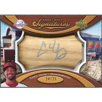 2007 Upper Deck Sweet Spot Signatures Bat Barrel Silver Ink #YG Chris B. Young /25