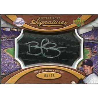 2007 Upper Deck Sweet Spot Signatures Black Bat Barrel Silver Ink #BB Boof Bonser /15
