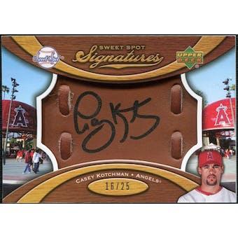 2007 Upper Deck Sweet Spot Signatures Glove Leather Black Ink #CK Casey Kotchman /25