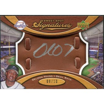 2007 Upper Deck Sweet Spot Signatures Glove Leather Silver Ink #DY Delmon Young /10